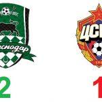 «Краснодар» одержал свою первую победу в15 туре чемпионата