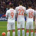 Сборная Российской Федерации втоварищеском матче уступила сборной Франции