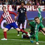«Атлетико» победил «Баварию» впервом полуфинальном матче Лиги чемпионов