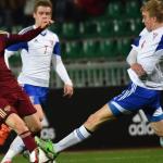 Молодежные сборные пофутболу Азербайджана и Российской Федерации сыграли вничью