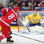 Сборная Российской Федерации вышла вчетвертьфинал чемпионата мира похоккею